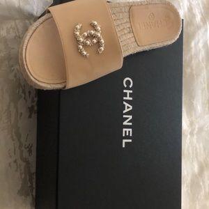 Authentic Chanel Slides